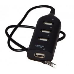 USB hub, USB 2. 0, 4 poorts.