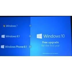 Upgrade Windows 7 of 8.1...