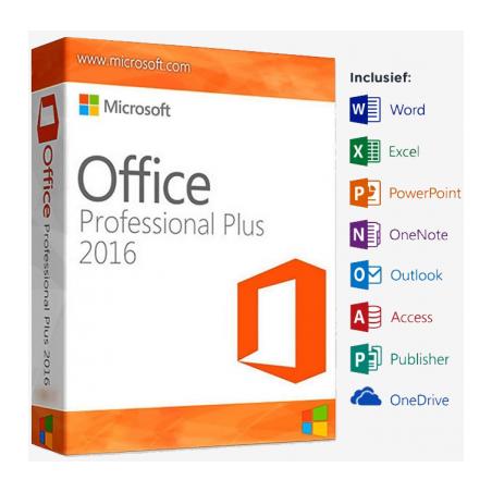 copy of Microsoft Office 2016 Pro Plus editie incl. installatie