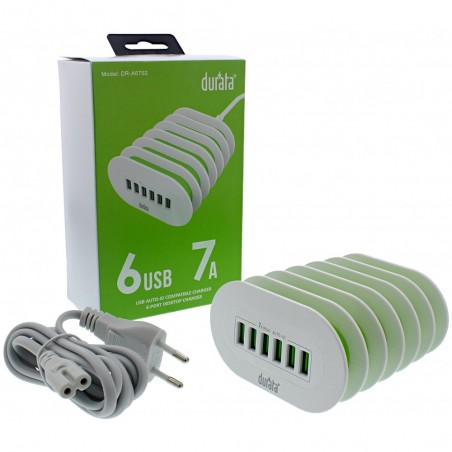 Durata home chargers 6 usb poorten